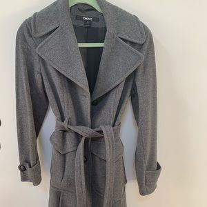 Stunning DKNY gray Pea Coat - flawless!